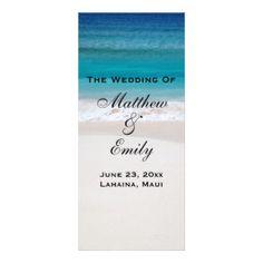 White Sand Ocean Beach Tropical Wedding Program