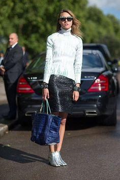 Street Style : Street Style: London Fashion Week Street Spring 2014