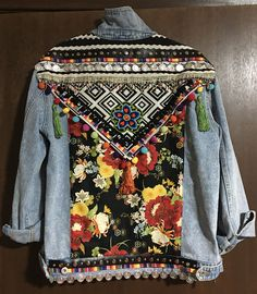 Upcycled denim jacket by Cherie Strudwick