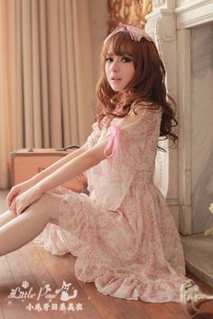 Mango Doll - High Waist Chiffon Princess Sleeve Dress , $42.00 (http://www.mangodoll.com/new-arrivals/high-waist-chiffon-princess-sleeve-dress/)