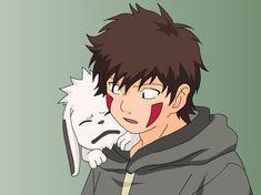 Kiba i Akamaru . by DrunkGohan on DeviantArt Naruto Uzumaki, Anime Naruto, Naruto Shippuden Figuren, Manga Anime, Naruto Shippuden Characters, Sarada Uchiha, Shikamaru, Gaara, Anime Guys
