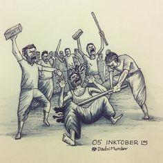 #inktober #DadriMurder #sketch #art #injustice #shame #murder #MurderOverBeef #