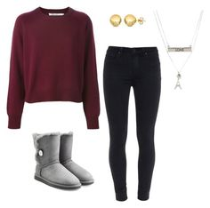 """""""Outfit for Christmas or New Years;)"""" by tumblrlover18 on Polyvore featuring Paige Denim, UGG Australia, Aéropostale and Sevil Designs"""