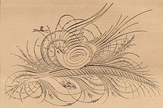 Flourish by U. McKee Published February 1886 in The American Penman