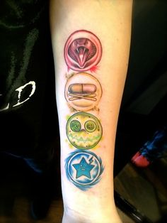 Realistic Party Poison, Fun Ghoul, Jet Star and Cobra Kid My Chemical Romance symbol tattoos