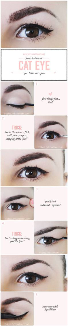 "That's how simple as it is! Winged liner for a ""droopy"" lid that ""folds"" where the line goes!"