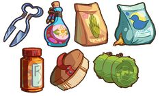 Game Items - Misc. Supplies by IntroducingEmy on DeviantArt