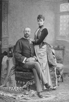 Crown Prince Ernst Augustus of Hanover with his wife, Princess Thyra of Denmark.