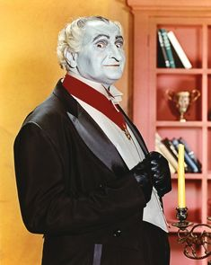 Grandpa (or Sam Dracula) from The Munsters — his face is green?! | 12 Jarring Color Images Of Black And White TV Shows