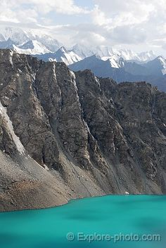 Alakol Lake and the Tian Shan - , Kyrgyztan  - Ysyk-Kol                                                                                                                                                                                 Plus