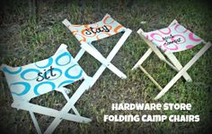 Folding Camp Chair Tutorial - So You Think You're Crafty