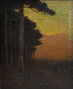 """""""Summer Twilight,"""" Charles Warren Eaton, oil on canvas, 24 x 20"""", private collection."""