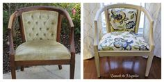 Beneath the Magnolias shared how she transformed this chair.