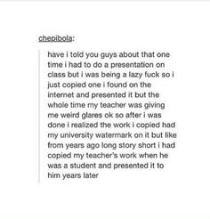 That's actually hilarious and I wouldn't even that mad if I was that professor tbh