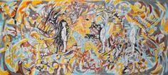 "Saatchi Art Artist Misha Dontsov; Painting, ""Jungle Kid (When I Was Five)"" #art"