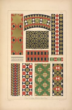 Fig. 1. From Monreale. Full size; Figs. [2.] A, 3.A, 4.A, 5.A, 6.A Palermo Cathedral, from the King's seat. Full size; Figs. 7.B, 8.B, 9.B From the duomo at Civita Castellana; Fig. 9. From the Mausoleum of Saint Costanza, 4th cent.; Fig. 10. From the tribune of San Marco, Rome.