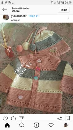 Knit Little Peach Baby Poncho Free Knitting Pattern Baby Cardigan Knitting Pattern Free, Kids Knitting Patterns, Baby Sweater Patterns, Knit Baby Sweaters, Knitting Blogs, Baby Hats Knitting, Knitting For Kids, Baby Patterns, Hand Knitting