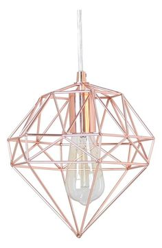 Free shipping and returns on Crystal Art Gallery Metallic Hanging Lamp at Nordstrom.com. A faceted, gemlike wire cage in a shining rose-goldtone finish makes a strikingly modern hanging lamp.