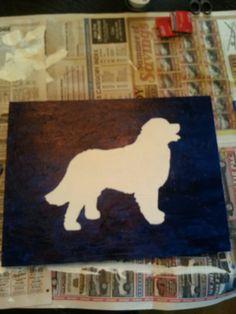 Silouette of Zoe, Bernese Mountain dog