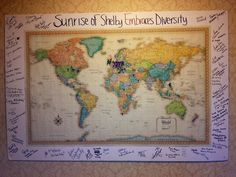 "See how the team at Sunrise of Shelby Township, MI, embraces diversity! ""We decided to showcase our diversity by posting a map in the hallway and having the whole team use push pins to mark their country of heritage. The map is really filling up and has become quite a conversation starter, as residents, visitors and professionals alike all stop to check it out. In the margins, each team member wrote their name and the country or countries they identify with the most."""