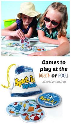 Games to play at the beach or pool, family vacation games, waterproof spot it cards perfect for kids and adults