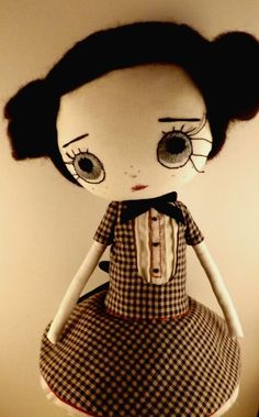 ELÉBORO ooak de muñeca de trapo hecha a por violettesmecaniques