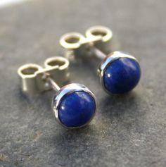 Lapis Lazuli stud earrings sterling silver £20.00