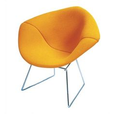 Knoll Bertoia Chair w Full Cover Yellow