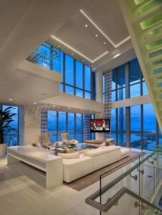 Extravagant Penthouse design in Las Vegas | Dining Spaces by One ...