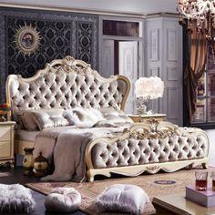 法式床 法式奢华家具 卧室床 田园双人床 欧式布艺 实木床 LS107-淘宝网