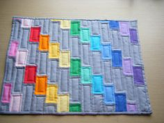 rainbow quilt idea - love grey and solids