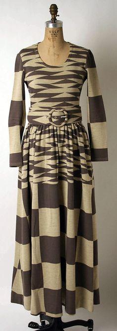 Wool Dress 1971, Rudi Gernreich (American (born Austria), Vienna 1922-1985 Los Angeles, California)