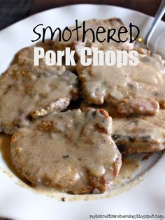 Best Baked Smothered Pork Chop One Skillet Dinner Recipes Easy Skillet Meals . Smothered Pork Chops Recipe Soul Food Com. Smothered Pork Chops And Gravy FaveSouthernRecipes Com. Home and Family Pork Recipes, Cooking Recipes, Best Pork Chop Recipe, Pork Meals, My Burger, Chops Recipe, Pork Dishes, I Love Food, Pork Chops
