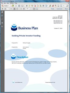 Get a professional business plan