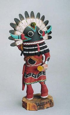 Broadface Whipper Kachina doll