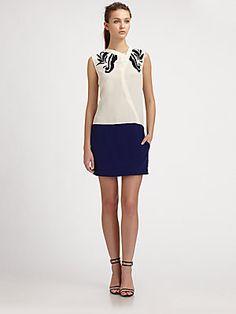 10 Crosby Derek Lam Embroidered Silk Shirtdress ($395.00)