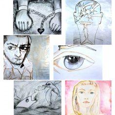 Paintings by Francesco Clemente for Great Expectations 1998 (deniro mid left)