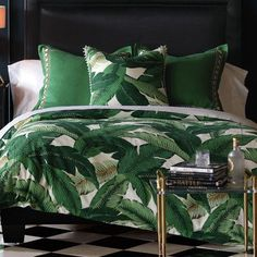 Eastern Accents Lanai Palm Duvet Cover Size: California King