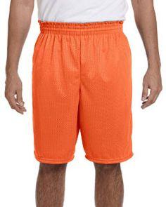 Augusta Sportswear 100% Polyester Tricot Mesh Shorts 848 Orange