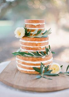 Wedding styling we love xx www.graceloveslace.com.au wedding, cake, reception, layered, greenery