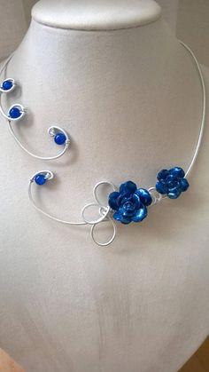 bridal jewelry for the radiant bride Prom Jewelry, Wedding Jewelry Sets, Bridesmaid Jewelry, Wire Jewelry, Beaded Jewelry, Gold Jewellery, Silver Jewelry, Wire Necklace, Initial Necklace
