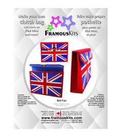 Framous Kits- Brit Fan Clutch Framous Plastic Canvas Kit