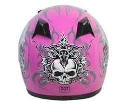 Throttlebatteries hot pink helmet