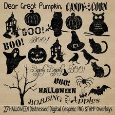 INSTANT DOWNLOAD Halloween Vintage by SHABBYHAPPYDesigns
