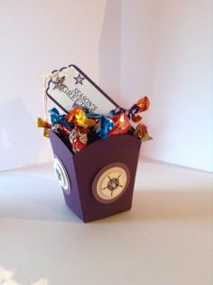 Sweetie box made with stampin up fry box die