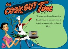 Retro Cook Out Time designed by Fenderskirts Vintage pingg-s-summer-design-contest Invitation Design, Invitation Cards, Invitations, Retro Barbecue, Desktop Gadgets, Camping Desserts, Cool Coasters, Camping Games, Time Design
