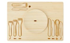 table manners set: to help learn which fork is which