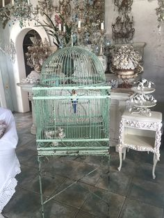 myparisfleamarket.com  fabulous vintage iron bird cage