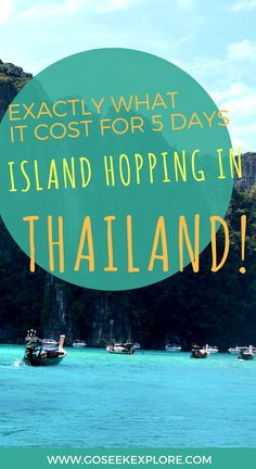 Exactly what it cost for 5 days island hopping in Thailand! True budget breakdown staying in Krabi/Ao Nang with day trips to Railay and the Koh Phi Phi tour. Super helpful for planning a Southeast Asia backpacking trip! Fiji Travel, Thailand Travel Guide, Asia Travel, Thailand Adventure, Krabi, Phuket, Thai Islands, Thailand Honeymoon, Island Tour