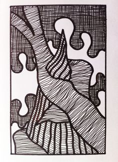 Shawl. Pen on paper.